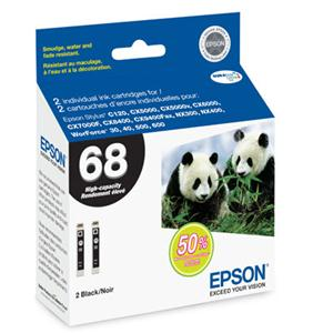 Epson Corporation T068120-D2 Epson High Capacity Dual-Pack Ink Cartridges