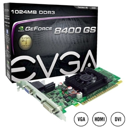 EVGA Corporation 01G-P3-1302-LR EVGA 01G-P3-1302-LR GeForce 8400 GS Graphic Card - 520 MHz Core - 1 GB DDR3 SDRAM - PCI Express 2.0 x16