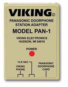 Viking Electronics VK-PAN-1 Panasonic Door Phone Station Adapter