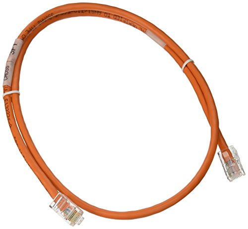 C2G 24494 3ft Cat5e Non-Booted Unshielded (UTP) Network Crossover Patch Cable - Orange