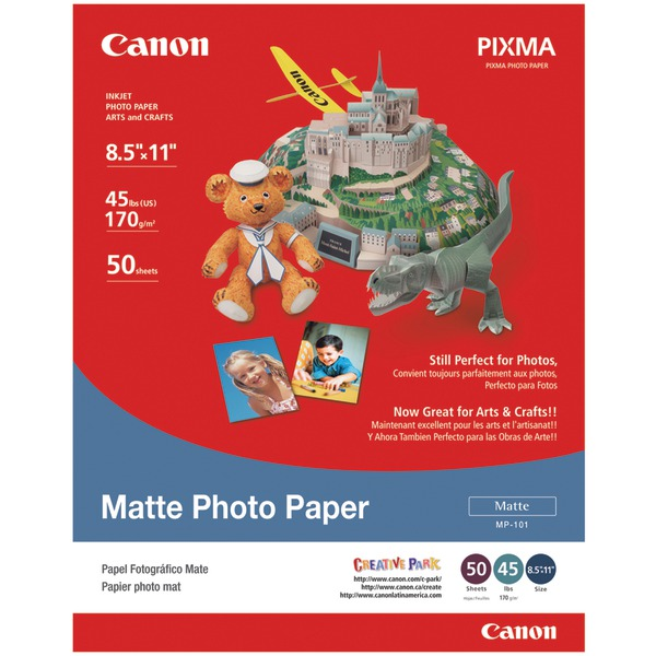 CANON USA 7981A004 MATTE PHOTO PAPER - LETTER A SIZE (8.5 IN X 11 IN)