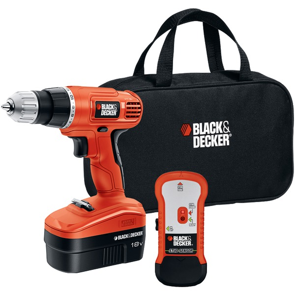 The Stanley Work GCO18SFB Black & Decker 18V Cordless Drill with Stud Sensor and Storage Bag