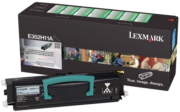 Lexmark International, Inc E352H11A Lexmark High Yield Black Toner Cartridge
