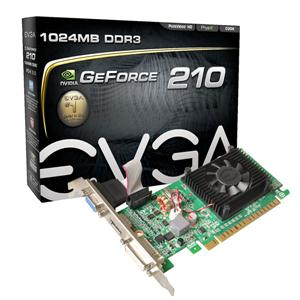 EVGA Corporation 01G-P3-1312-LR EVGA 01G-P3-1312-LR GeForce 210 Graphic Card - 520 MHz Core - 1 GB DDR3 SDRAM - PCI Express 2.0 x16