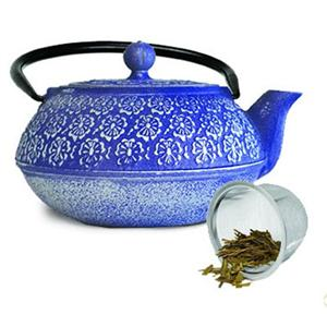 Epoca PCI-4340 Cast Iron 40 oz. Teapot Blue