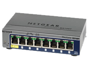 Netgear, Inc GS108T-200NAS Netgear ProSafe GS108Tv2 Gigabit Smart Switch