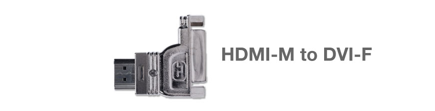 Gefen ADA-HDMIM-2-DVIFL HDMI  to DVI Left Adapter