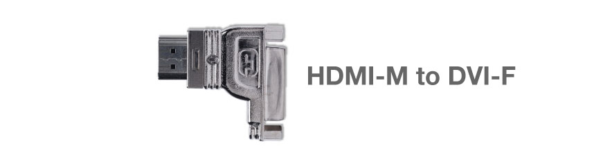 Gefen ADA-HDMIM-2-DVIFR HDMI to DVI Right Adapter