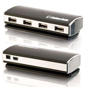 C2G 29508 4-Port USB 2.0 Aluminum Hub for Chromebooks, Laptops, and Desktops
