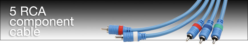 Gefen CAB-CMP5RCA-06MM 5 RCA Component Cable (M-M) 6 ft