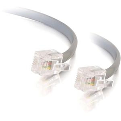 C2G 08134 50ft RJ12 Modular Telephone Cable