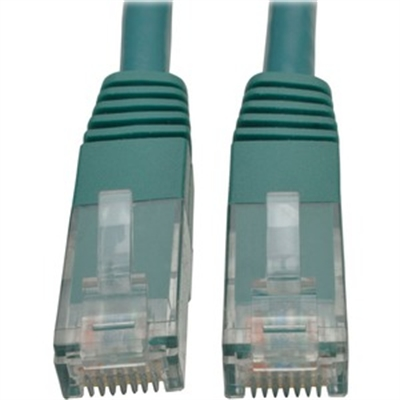 TRIPP LITE N200-010-GN 10FT CAT6 GIGABIT MOLDED PATCH CABLE RJ45 M/M 550MHZ 24AWG GREEN