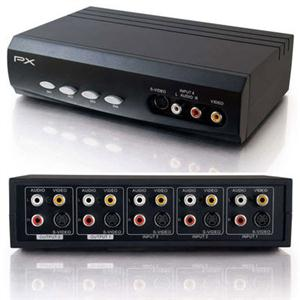 C2G 28750 4x2 S-Video + Composite Video + Stereo Audio Selector Switch