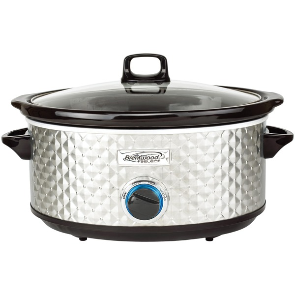 BRENTWOOD SC-157S BS Slow Cooker Quilted 7qt SS