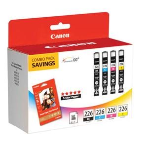 Canon, Inc 4546B007 Canon CLI-226 Ink Cartridge - Black, Cyan, Magenta, Yellow