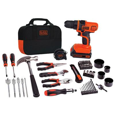 BLACK & DECKER LDX120PK 68PC 20V DRILL KIT