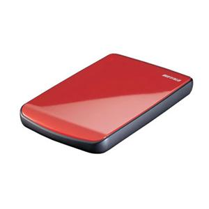 Buffalo Technology (USA), Inc HD-PET640U2/R Buffalo MiniStation Cobalt 640 GB External Hard Drive - Ruby Red