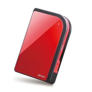 Buffalo Technology (USA), Inc HD-PXT500U2/R Buffalo MiniStation Metro 500 GB External Hard Drive - Ruby Red